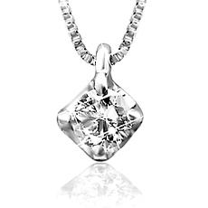 ジェムケリー【送料無料・鑑別書付】68%OFF9,800円ジェムケリーの1粒ダイヤモンドネックレス
