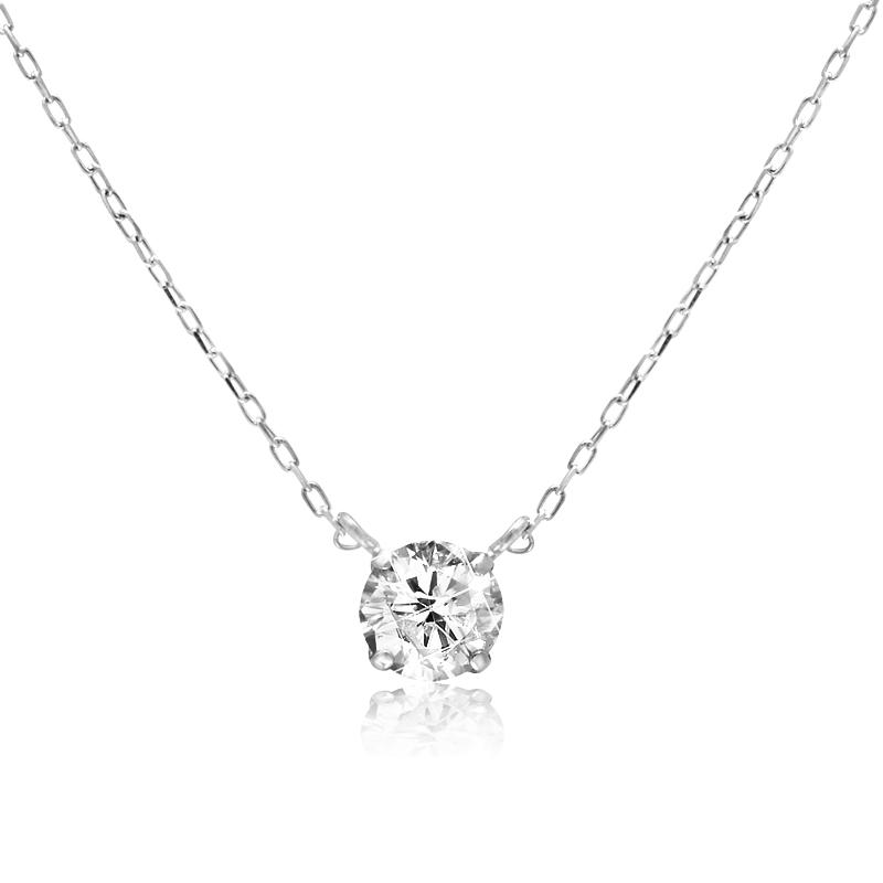 K10 ダイヤモンド4本爪ネックレス