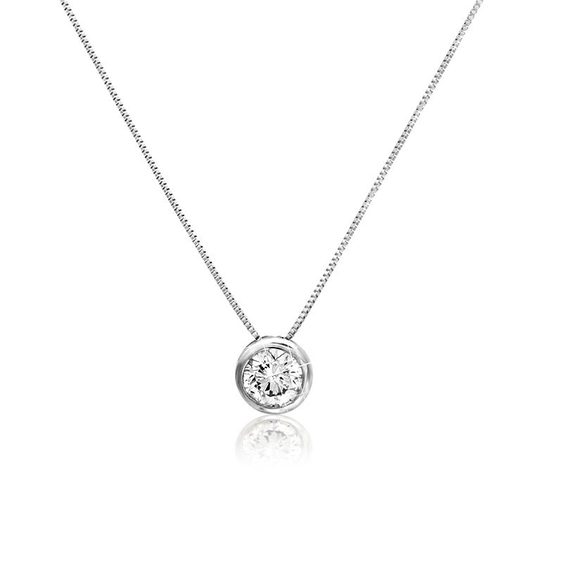 K10 シンプルダイヤモンドネックレス