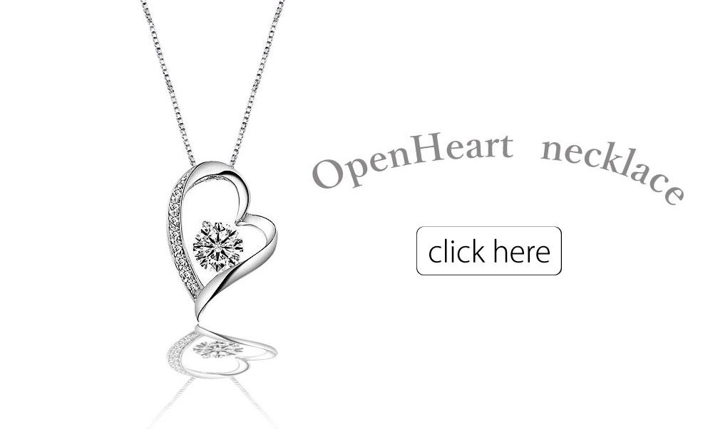 オープンハートネックレス