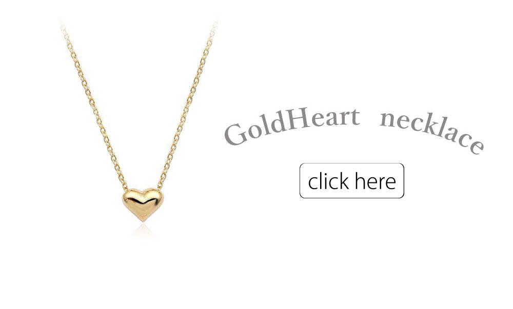 ゴールドハートネックレス
