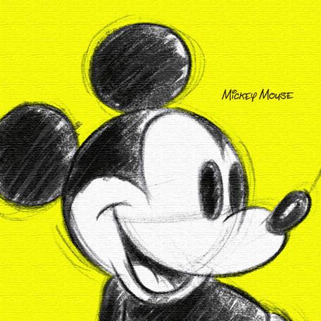 ミッキー・ミニーのファブリックパネル