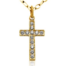 CROSS NECKLACE -gold-