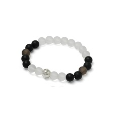 CROSS&8.0LUSTERLESS BALL BRACELET(L)