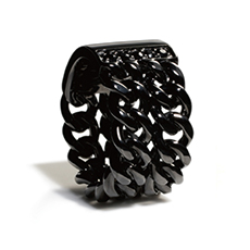 IVXLCDM DUAL CHAIN RING BLACK