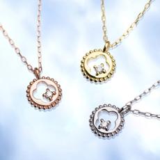 ダイヤモンドオープンデザインネックレス