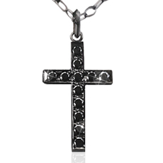 CROSS NECKLACE -black-